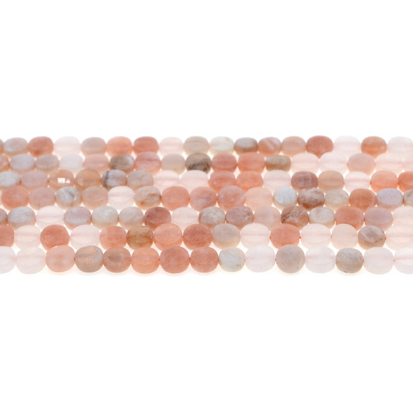 Multicolor Moonstone Coin Puff Faceted Diamond Cut 6mm x 6mm x 3mm - Loose Beads