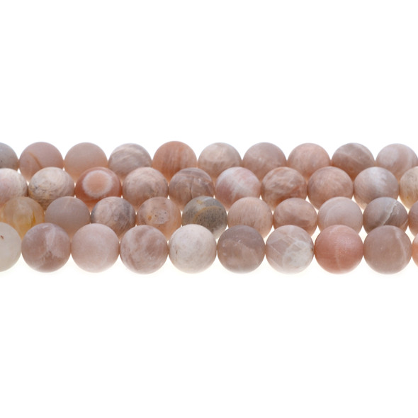Multi-Color Moonstone Round Frosted 10mm - Loose Beads
