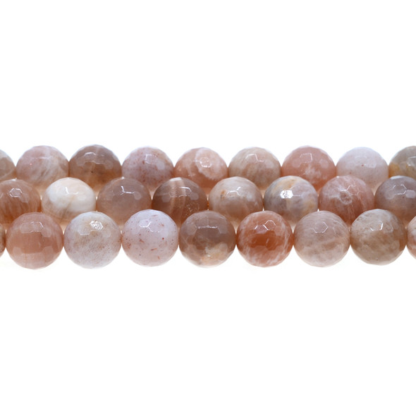 Multi-Color Moonstone Round Faceted 12mm - Loose Beads