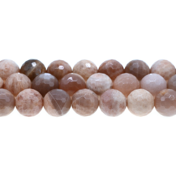 Multi-Color Moonstone Round Faceted 14mm - Loose Beads