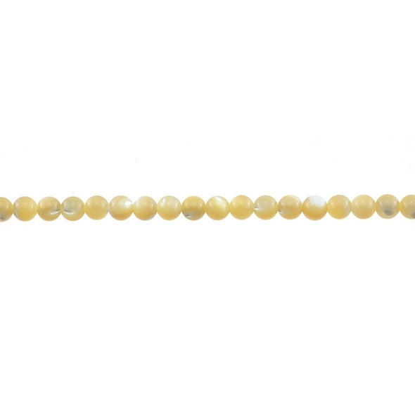 Natural Mother of Pearl Round 4mm - Loose Beads