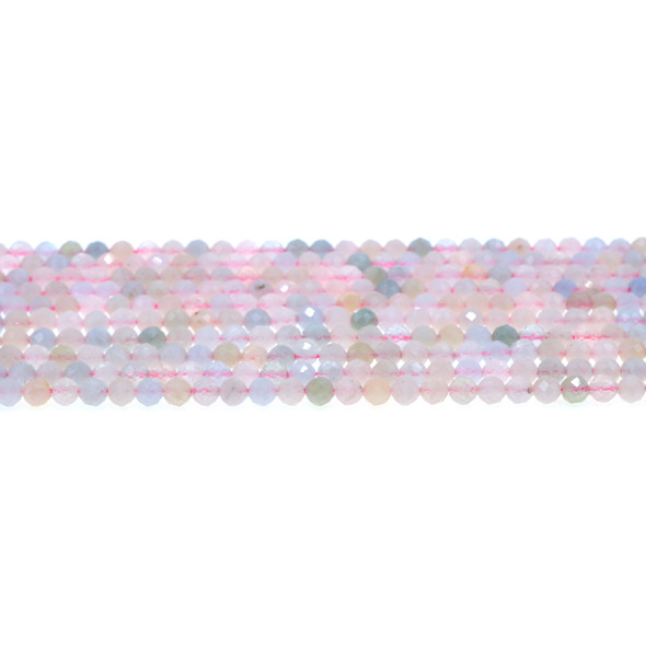 Morganite Round Faceted Diamond Cut 4mm - Loose Beads