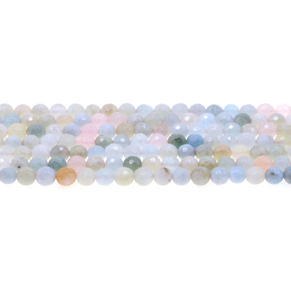 Morganite Round Faceted 6mm - Loose Beads