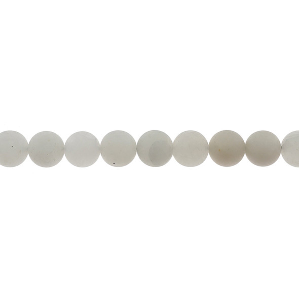 Natural Angola Quartz Round Frosted 10mm - Loose Beads