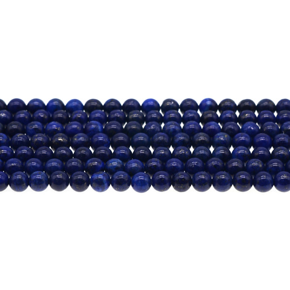 New Colored Enchanced Lapis Lazuli Round 6mm - Loose Beads