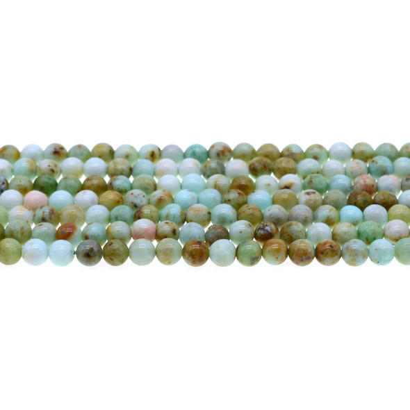 Natural Mongolian Turquoise Round 6mm - Loose Beads