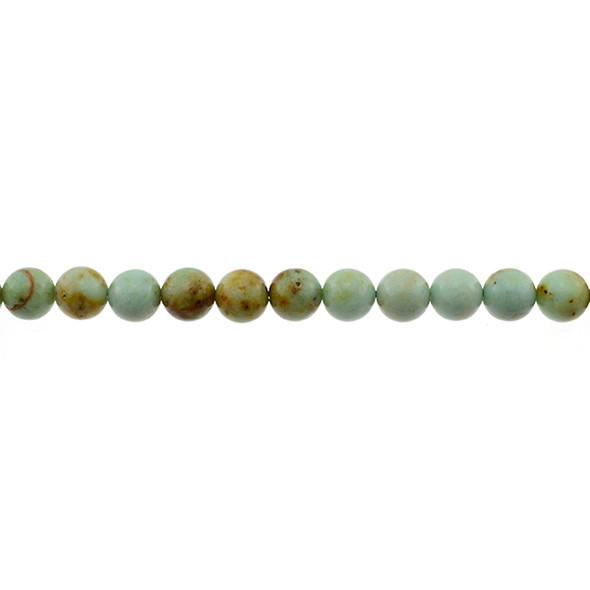 Natural Mongolian Turquoise Round 8mm - Loose Beads