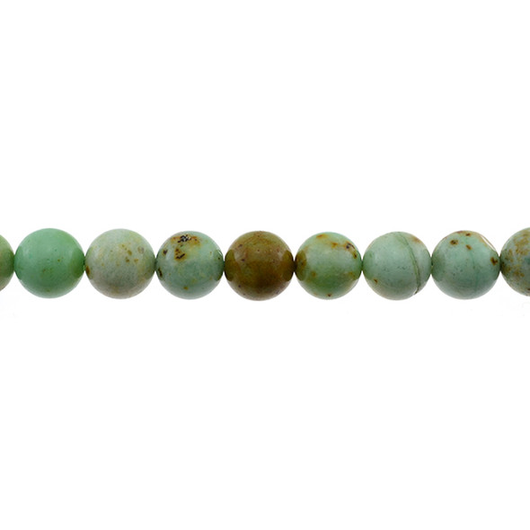 Natural Mongolian Turquoise Round 12mm - Loose Beads