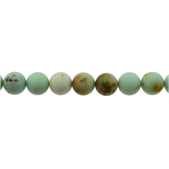 Natural Mongolian Turquoise Round Frosted 12mm - Loose Beads