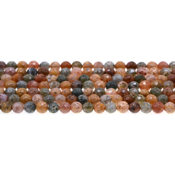New Ocean Agate Jasper Round Faceted 6mm - Loose Beads