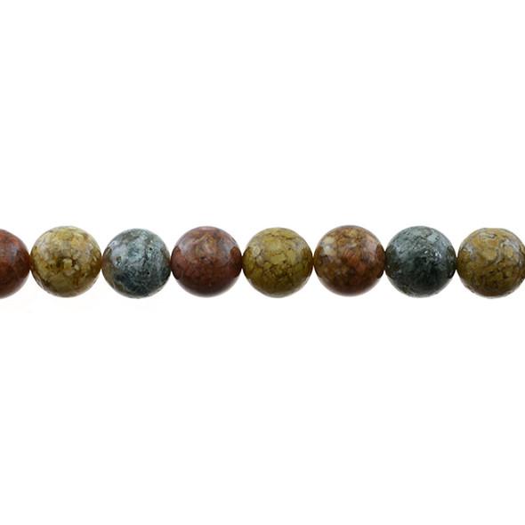 New Ocean Agate Jasper Round 10mm - Loose Beads