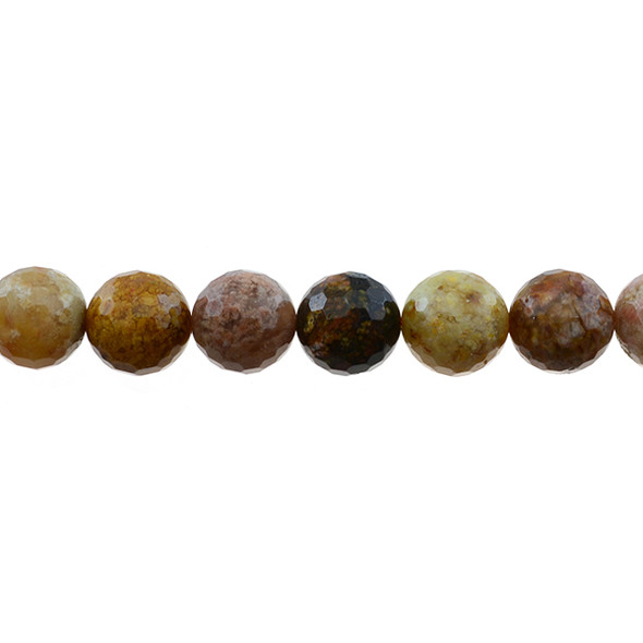 New Ocean Agate Jasper Round Faceted 12mm - Loose Beads