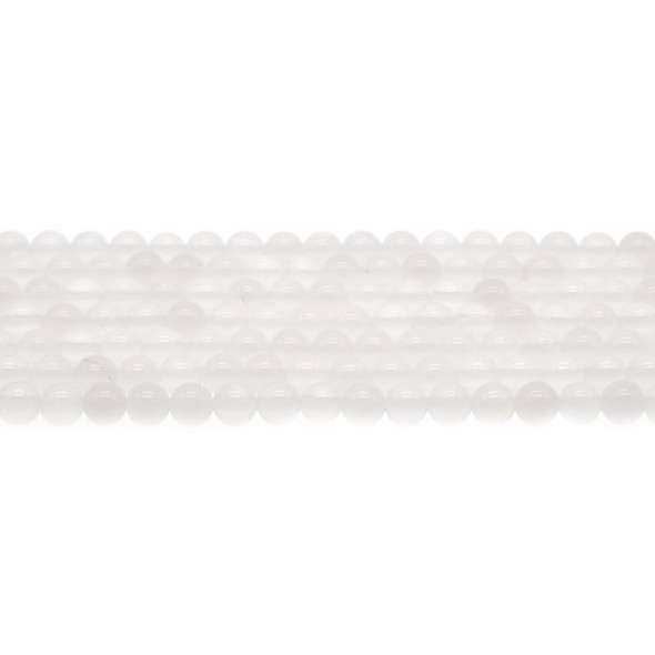 Natural White Agate Round 6mm - Loose Beads