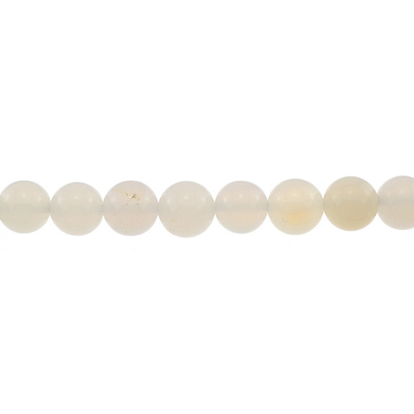 Natural White Agate Round 12mm - Loose Beads
