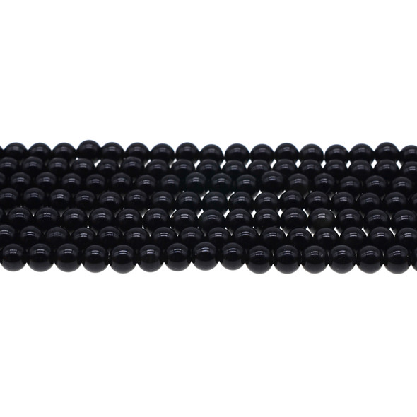Black Obsidian Round 6mm - Loose Beads