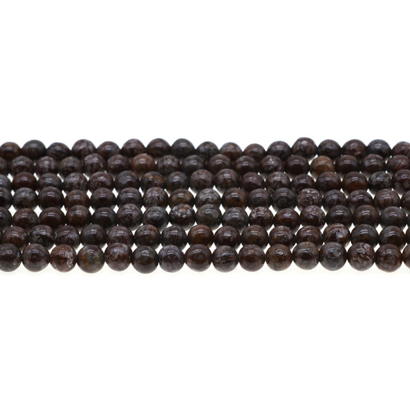 Chinese Snowflakes Obsidian Round 6mm - Loose Beads