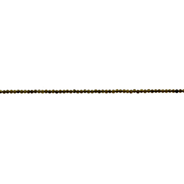 Golden Obsidian Round Faceted Diamond Cut 2mm - Loose Beads