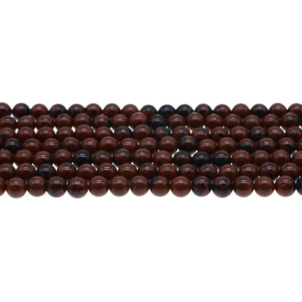 Mohogany Obsidian Round 6mm - Loose Beads