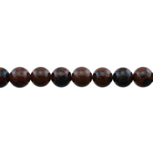 Mohogany Obsidian Round 10mm - Loose Beads