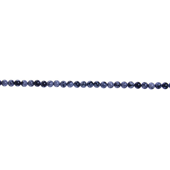 Snowflake Obsidian Round 3mm - Loose Beads