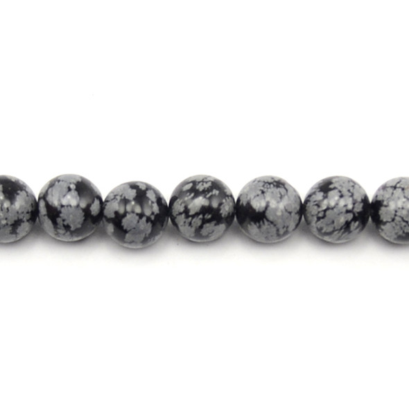 Snowflake Obsidian Round 12mm - Loose Beads
