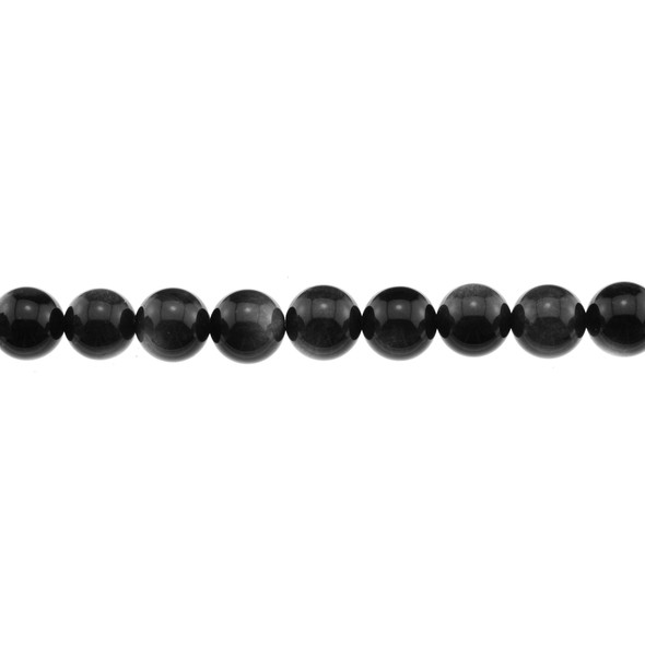 Silver Sheen Obsidian Round 10mm - Loose Beads