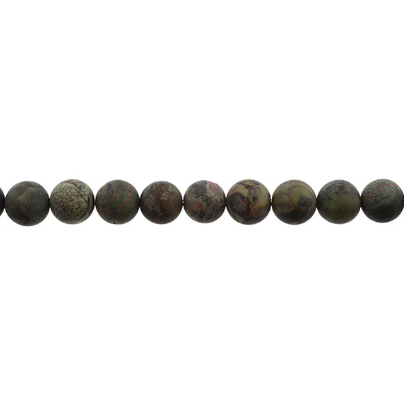 Ocean Jasper Round Frosted 10mm - Loose Beads