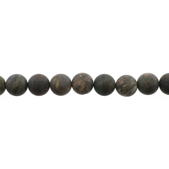 Ocean Jasper Round Frosted 12mm - Loose Beads