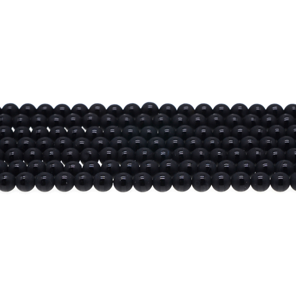 Onyx with Line Round Frosted 6mm - Loose Beads