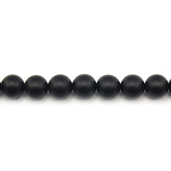 Black Onyx Round Frosted 10mm - Loose Beads
