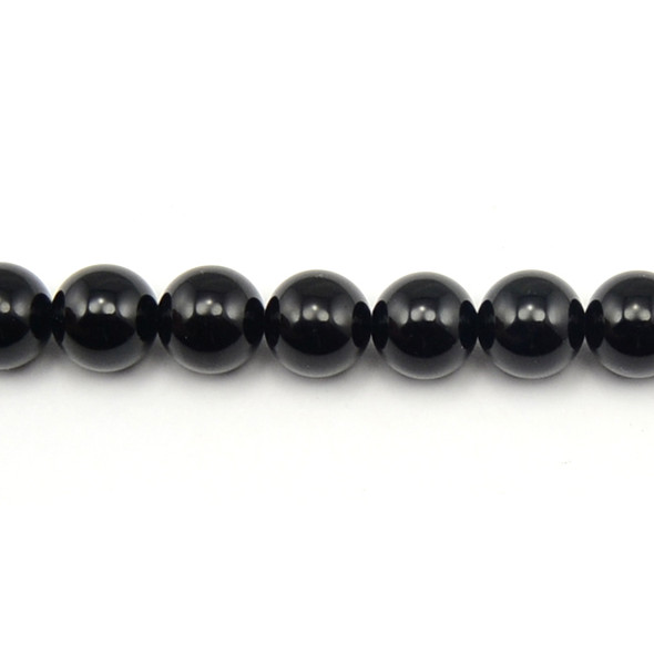 Black Onyx Round 12mm - Loose Beads