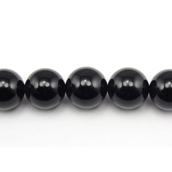 Black Onyx Round 18mm - Loose Beads
