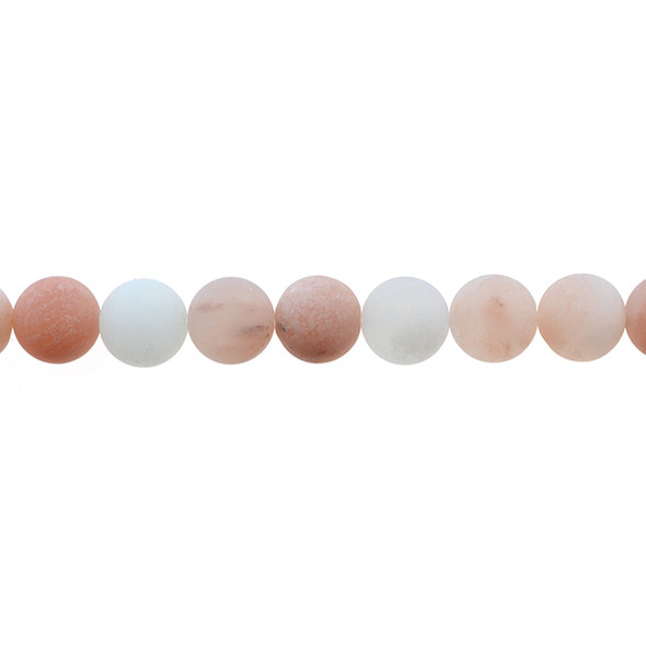 Pink Aventurine Round Frosted 10mm - Loose Beads