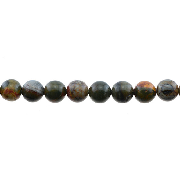 Red Picasso Jasper Round 10mm - Loose Beads
