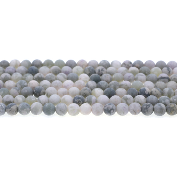 Peace Jasper Round Frosted 6mm - Loose Beads