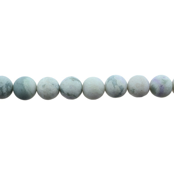 Peace Jasper Round Frosted 10mm - Loose Beads