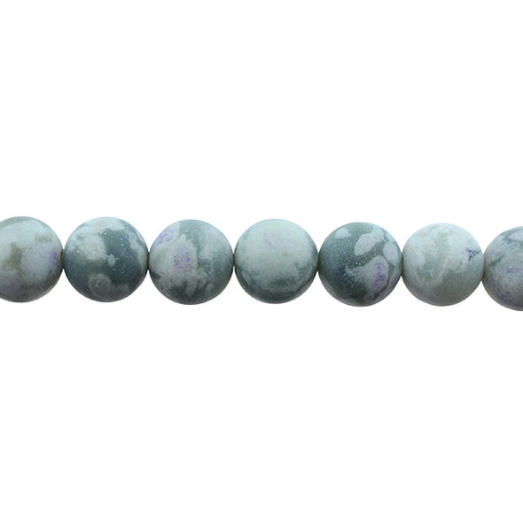 Peace Jasper Round Frosted 12mm - Loose Beads