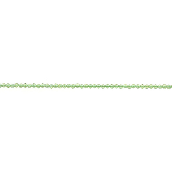 Peridot Round Faceted Diamond Cut 2mm - Loose Beads