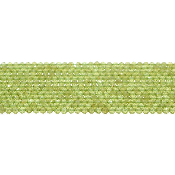 Peridot Round Faceted Diamond Cut 3mm - Loose Beads