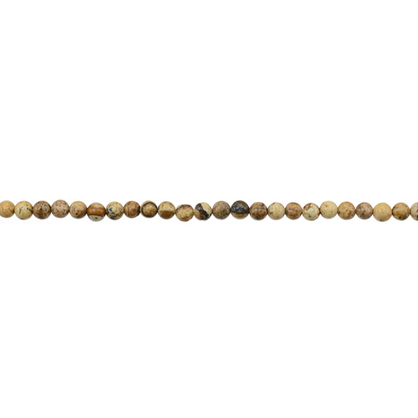 Picture Jasper Round 3mm - Loose Beads