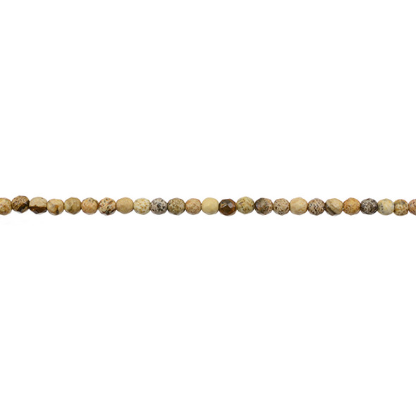 Picture Jasper Round Faceted 3mm - Loose Beads