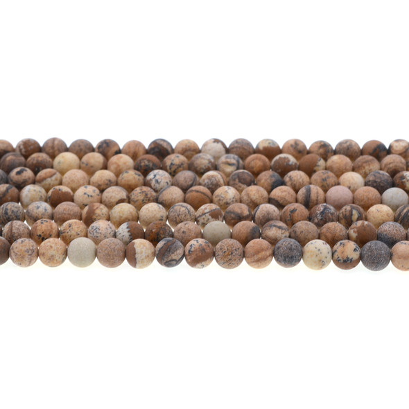 Picture Jasper Round Frosted 6mm - Loose Beads