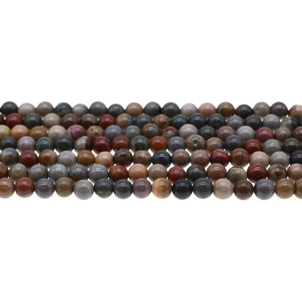 New Picasso Jasper Round 6mm - Loose Beads