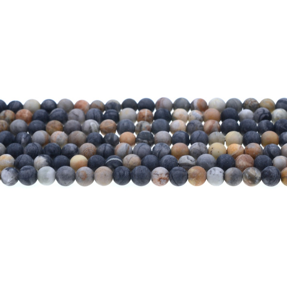 Picasso Jasper Round Frosted 6mm - Loose Beads