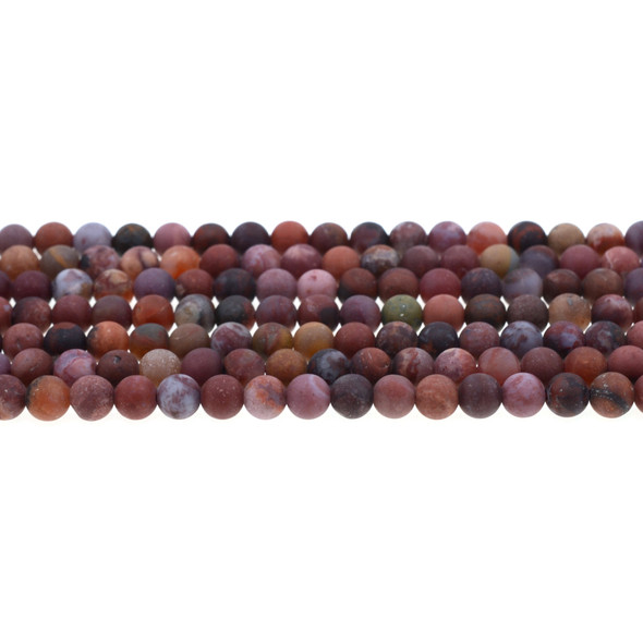 Portuguese Agate Round Frosted 6mm - Loose Beads
