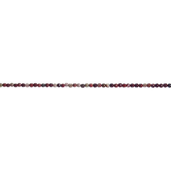 Poppy Jasper Round Faceted 2mm - Loose Beads