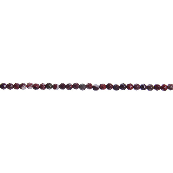 Poppy Jasper Round Faceted 3mm - Loose Beads