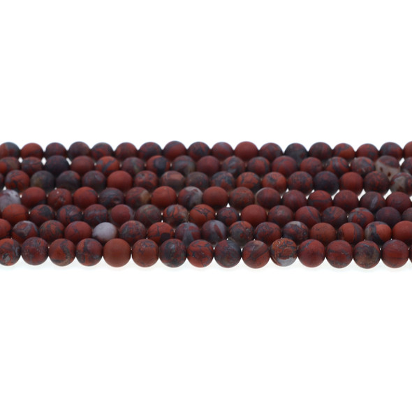 Poppy Jasper Round Frosted 6mm - Loose Beads