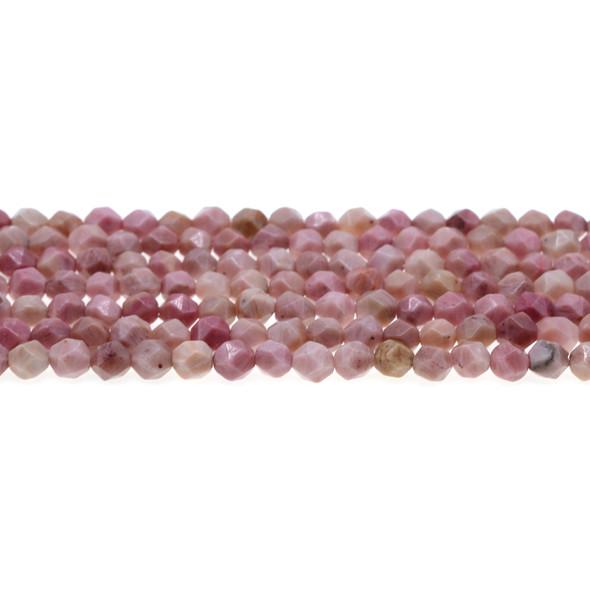 Pink Rhodonite Round Large Cut 6mm - Loose Beads