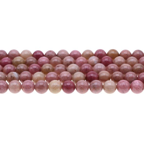 Pink Rhodonite Round 8mm - Loose Beads